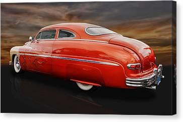 1950 Mercury Sedan With Flames Canvas Print