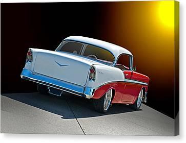 1956 Chevrolet Bel Air Canvas Print by Dave Koontz