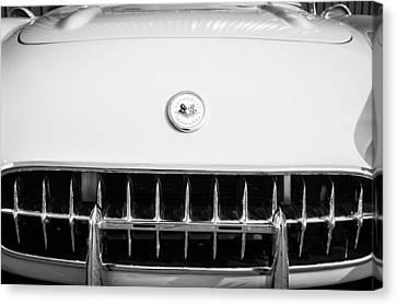 1957 Chevrolet Corvette Emblem Canvas Print by Jill Reger