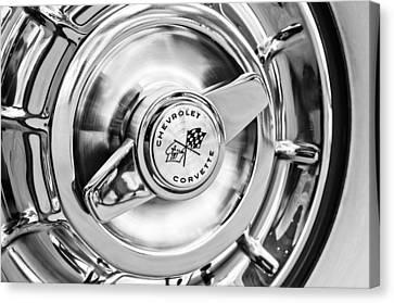 1957 Chevrolet Corvette Wheel Canvas Print by Jill Reger