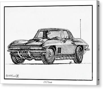 1967 Corvette Canvas Print