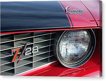 1969 Chevrolet Camaro Z-28 Grille Emblem Canvas Print by Jill Reger
