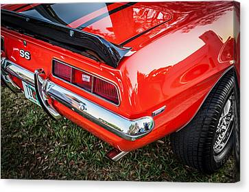 1969 Chevy Camaro Ss 396 Painted Canvas Print by Rich Franco