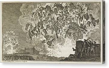 A Battle Scene Canvas Print by British Library