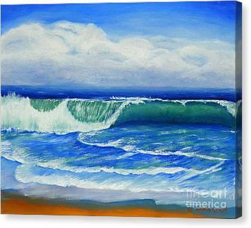 A Wave To Catch Canvas Print by Shelia Kempf
