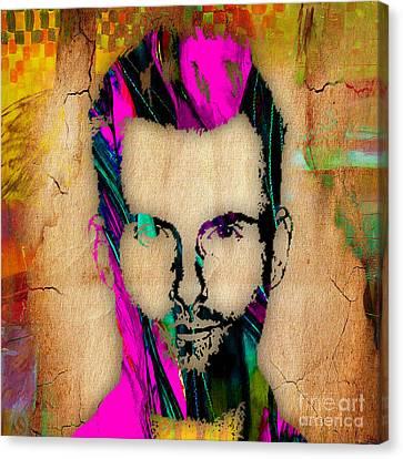 Color Canvas Print - Adam Levine by Marvin Blaine
