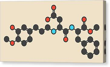 Advantame Sugar Substitute Molecule Canvas Print