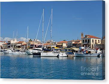 Yachts Canvas Print - Aegina Port by George Atsametakis
