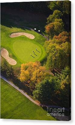 Aerial Image Of A Golf Course. Canvas Print