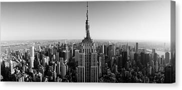 Aerial View Of A Cityscape, Empire Canvas Print by Panoramic Images