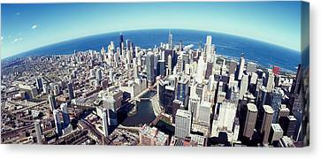 View. Chicago Canvas Print - Aerial View Of A Cityscape With Lake by Panoramic Images