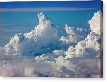 Aerial View Of Clouds In The Sky Canvas Print by Keren Su
