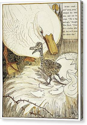 Andersen Ugly Duckling Canvas Print by Granger