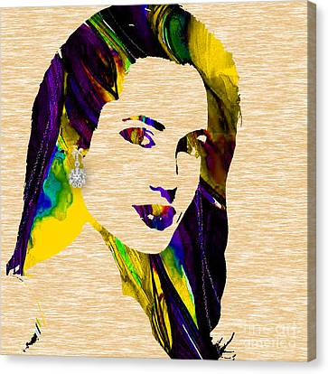 Tomb Canvas Print - Angelina Jolie Collection by Marvin Blaine