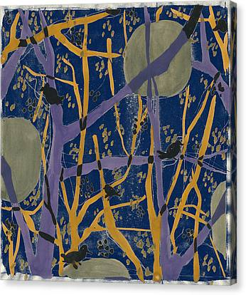 Anna Zaliski, Fine Art Of Nature. Trees And Birds Canvas Print by Artokoloro