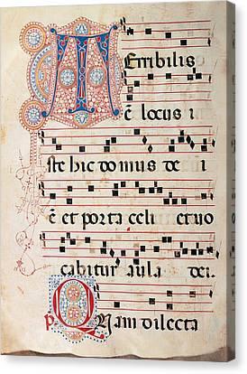 Anonymous Sienese Painter, Proprio Dei Canvas Print