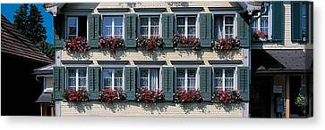 Flower Boxes Canvas Print - Appenzell Switzerland by Panoramic Images