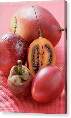 Passionfruit Canvas Print - Assorted Exotic Fruits by Foodcollection