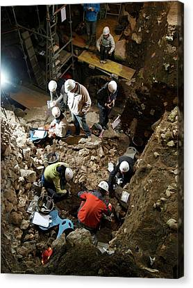 Atapuerca Fossil Excavation Canvas Print