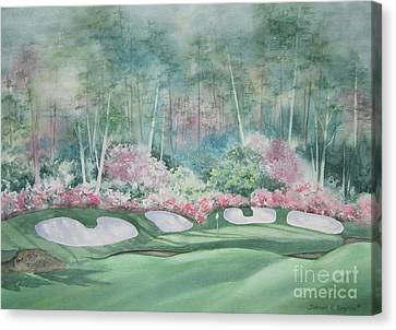 Augusta National 13th Hole Canvas Print by Deborah Ronglien
