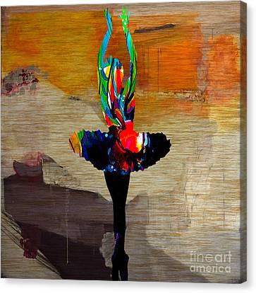 Ballet Slippers Canvas Print - Ballerina by Marvin Blaine