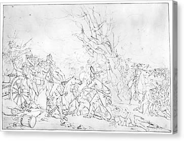 Battle Of Princeton, 1777 Canvas Print by Granger