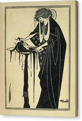 Beardsley, Aubrey Vincent 1872-1898 Canvas Print by Everett