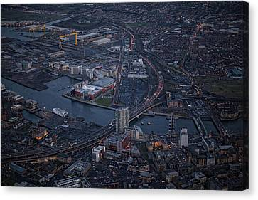 Belfast At Night, Northern Ireland Canvas Print by Colin Bailie