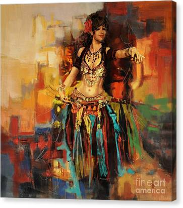 Belly Dancer 9 Canvas Print by Corporate Art Task Force