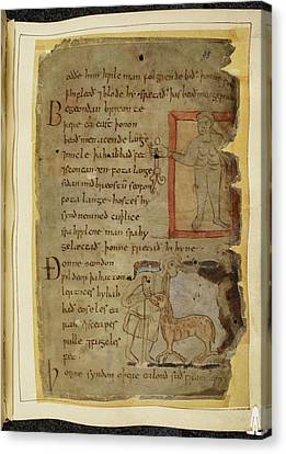 Beowulf An Epic Poem Canvas Print by British Library