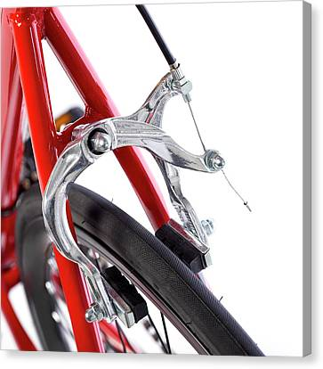 Bicycle Brakes Canvas Print by Science Photo Library