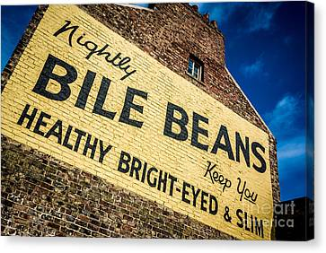 Bile Beans Advertising Canvas Print by Bailey Cooper