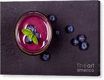 Shake Canvas Print - Blueberry Smoothie   by Jane Rix