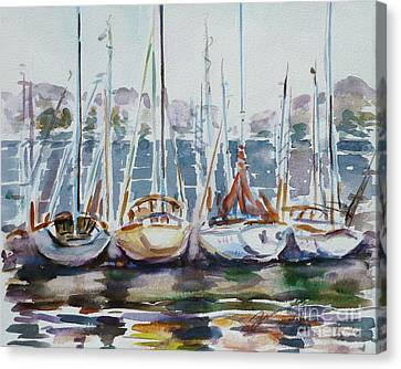 4 Boats Canvas Print by Xueling Zou