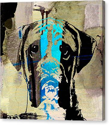 Boxer Canvas Print by Marvin Blaine