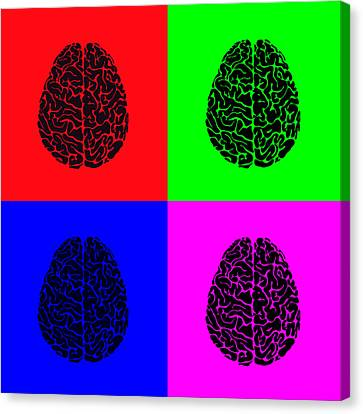 4 Brain Pop Art Panel Canvas Print