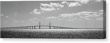 Bridge Across A Bay, Sunshine Skyway Canvas Print