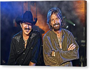 Brooks And Dunn Canvas Print by Don Olea