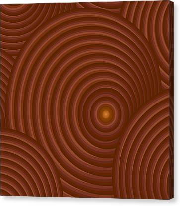 Brown Abstract Canvas Print