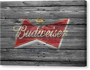 Handcrafted Canvas Print - Budweiser by Joe Hamilton