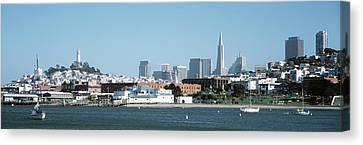 Buildings At The Waterfront, San Canvas Print by Panoramic Images
