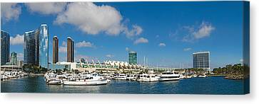 Buildings In A City, San Diego Canvas Print by Panoramic Images