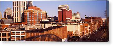 Downtown Nashville Canvas Print - Buildings In A Downtown District by Panoramic Images