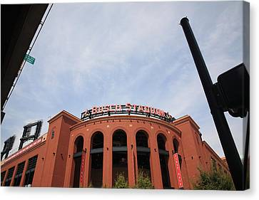 Busch Stadium - St. Louis Cardinals Canvas Print by Frank Romeo