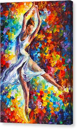 Ballerinas Canvas Print - Candle Fire by Leonid Afremov