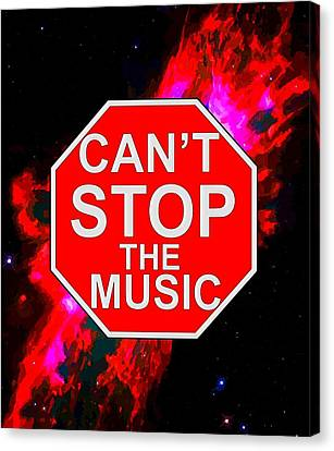 Can't Stop The Music Canvas Print by Andrew Hunt