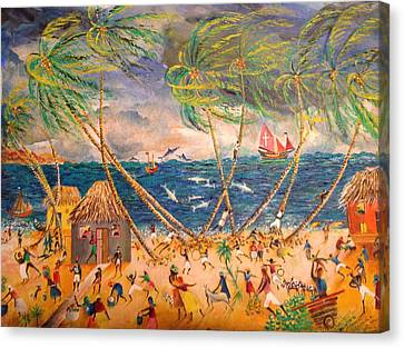 Caribbean Village Canvas Print by Egidio Graziani