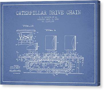 Machinery Canvas Print - Caterpillar Drive Chain Patent From 1952 by Aged Pixel