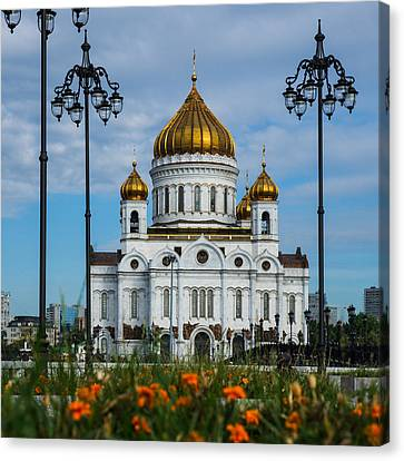 Cathedral Of Christ The Savior Of Moscow - Russia - Featured 3 Canvas Print