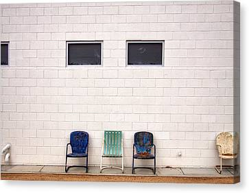 Ace Chairs Palm Springs Canvas Print by William Dey